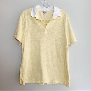 Rag & Bone | Yellow Polo Shirt Size Large